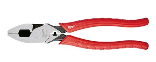 "Milwaukee 9"" High Leverage Lineman's Pliers w/ Crimper"
