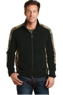 Port Authority Camo Microfleece Full-Zip Jacket-Mens