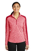Sport Tek PosiCharge Electric Heather Colorblock 1/4 Zip - Ladies
