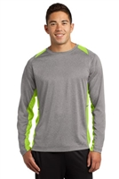 Sport Tek Long-sleeve Heather Colorblock Contender Tee - Mens