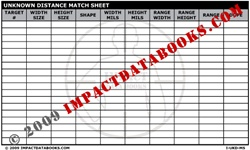 Unknown Distance Match Sheet