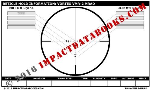 Vortex VMR-2 MRAD Reticle
