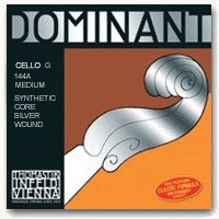 Thomastik Dominant Cello G String - Silver-Wound - Medium Gauge - 4/4