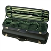 Jaeger Prestige Oblong Violin Case - Brown Leather