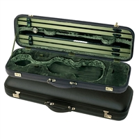 Jaeger Prestige Oblong Violin Case - Mocha Leather