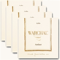 Warchal Amber Cello String Set with Synthetic Core A