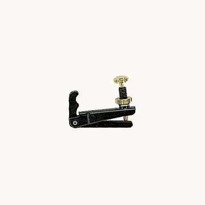 Wittner Stable-Style Fine Tuner for Viola - Wide - Black and Gold