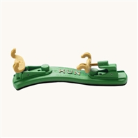 Kun Mini Collapsible Violin Shoulder Rest - 1/16-1/4 Size - Green