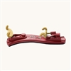 Kun Mini Collapsible Violin Shoulder Rest - 1/16-1/4 Size - Red