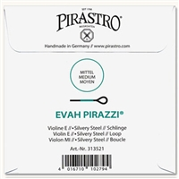 Evah Pirazzi Violin E String - 4/4 - Medium Gauge - Loop (Silvery Steel)
