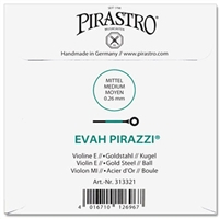 Evah Pirazzi Violin E String - 4/4 - Medium Gauge - Ball (Gold-Plated Steel)