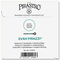 Evah Pirazzi Violin D String - 4/4 - Medium Gauge (Synthetic/Silver)