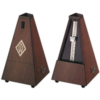 Wittner Maelzel Wooden Pyramid Style Metronome - Genuine Walnut Wood