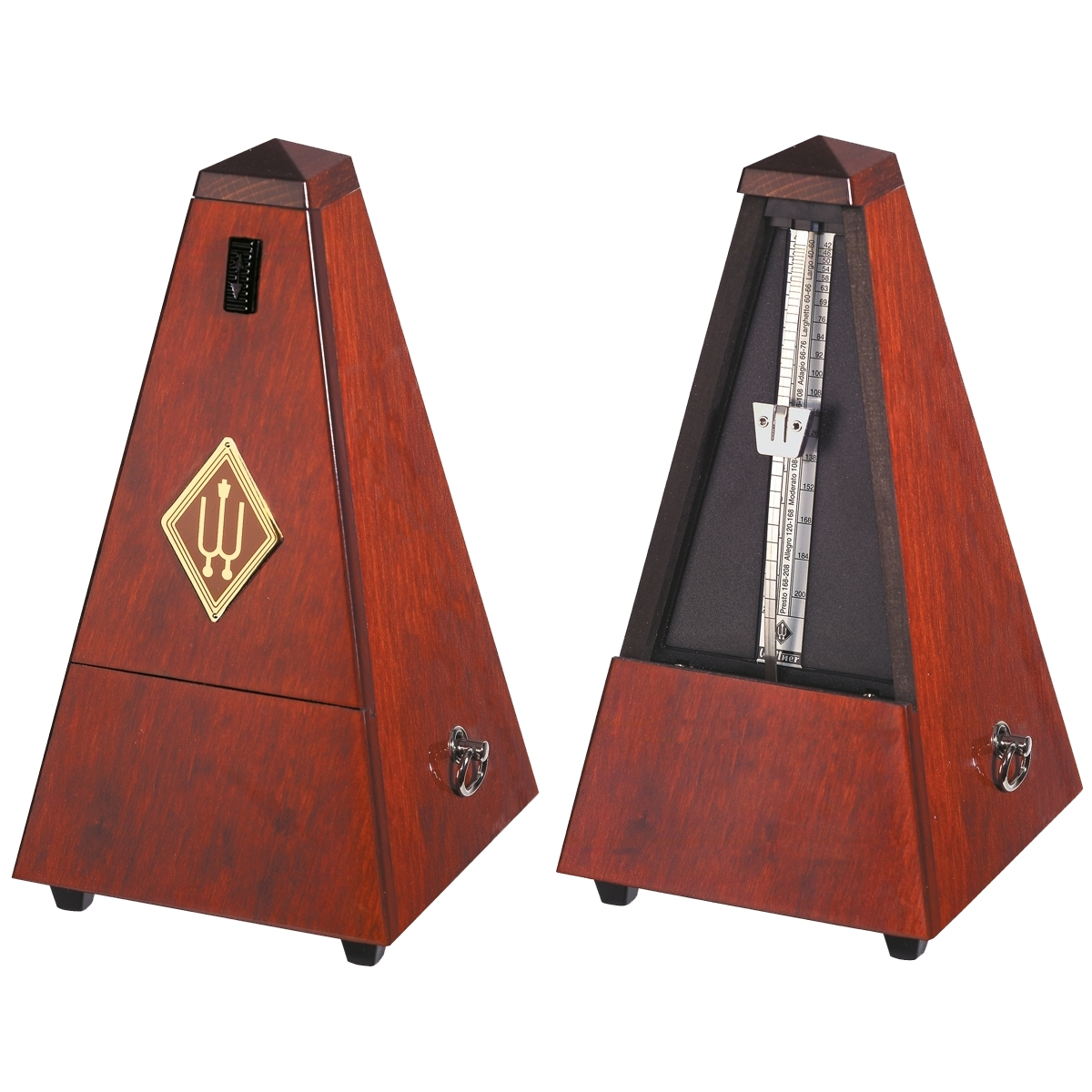 Wittner M/étronome traditionnel Maelzel en forme de pyramide avec /étui en bois cloche