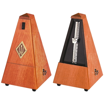Wittner Maelzel Wooden Pyramid Style Metronome - Cherry