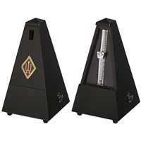 Wittner Maelzel Wooden Pyramid Style Metronome - Black