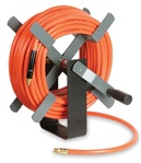 Manual Rewind Air Hose Reel with 100 ft hose