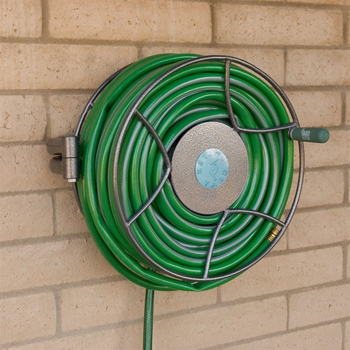 Elegant Wall Mounted Metal Hose Reel