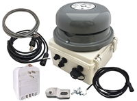 NETBELL-KL-M2 WEB-BASED SELF-CONTAINED HIGH VOLUME BREAK BELL SYSTEM WITH TWO EXTERNAL BELL OUTPUTS AND ONE DIGITAL INPUT TO RING BELL MANUALLY FOR EMERGENCY