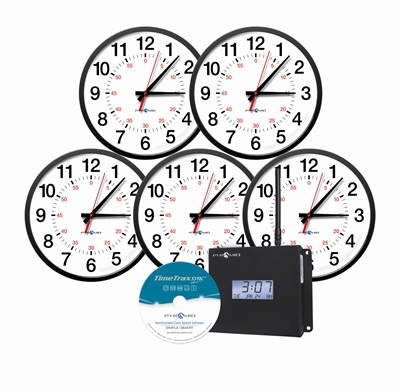 Pyramid Wireless Analog Clocks in a Box Bundle