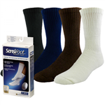 JOBST® SensiFoot™ White Crew Closed Toe Sock
