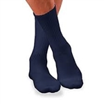 JOBST® SensiFoot Navy Crew Closed Toe Sock