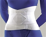 FLA Lumbar Sacral Support With Overlapping Abdominal Belt - 10""