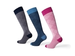 JOBST® Casual Pattern Knee High Compression Socks, 15-20 mmHg, Closed Toe