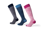 JOBST® Casual Pattern Knee High Compression Socks, 30-40 mmHg, Closed Toe