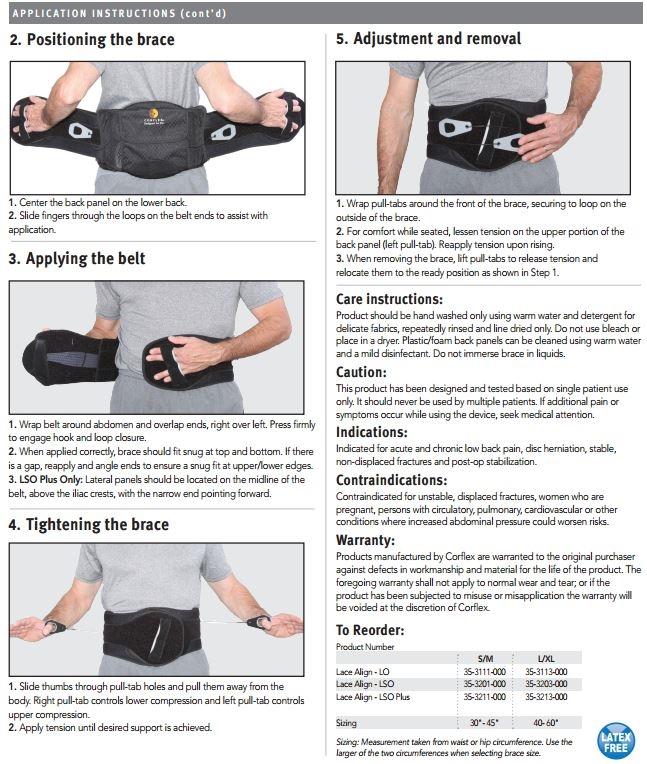 Corflex Lace Align Lumbar Orthosis (LO)