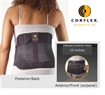 "Corflex Disc Unloader Spinal Orthosis w/10"" Anterior Panel Extension"