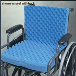 Rose Healthcare Eggcrate Wheelchair Cushion with or w/o Seat Back, Blue