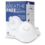 N95 Respirator Mask With Valve Breathe-Free - Box of 10