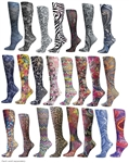 Blue Jay Fashion Knee High Compression Stockings