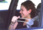 One-Piece Handle Extension Attaches To Your Seat Belt To Put It Within Easy Reach.