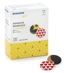 McKesson Kids™ 1 Inch Plastic Round Adhesive Spot Bandage (Assorted Print)