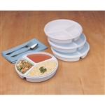 Maddak SP Ableware Partitioned Scoop Dish With Lid
