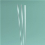Rigid Clear Plastic Reusable Straws - 3 Pack