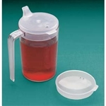 North Coast Medical Clear Cup With Two Lids, 10 oz