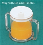 North Coast Medical Drinking Mug with Handles & Lid 10 oz