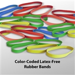 Color-Coded Latex Free Rubber Bands