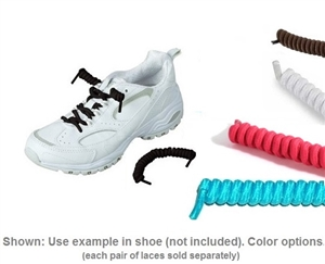 Providence Spillproof No Tie Curly Elastic Shoelaces