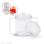 Providence Spillproof Independence 2-Handle Plastic Mug w/Lids