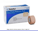 Reliamed Tan Paper Surgical Tape by Cardinal Health- Single Roll