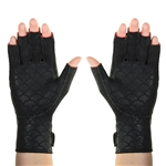 Arthritic Gloves in open or closed fingertip design offer soothing heat and mild compression for hand pain relief.