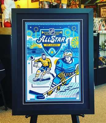 11x17 framed 2020 NHL All Star Poster, suede mats