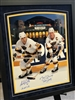 16x20 dual autographed print by Hockey Great Brett Hull and Adam Oates