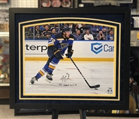 16x20 autographed  and framed St Louis Blues Justin Faulk