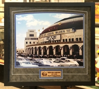 16x20 print of the old Arena with engraved wood from the Old Barn