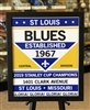 2019 NHL Stanley Cup Champions Poster St Louis Blues